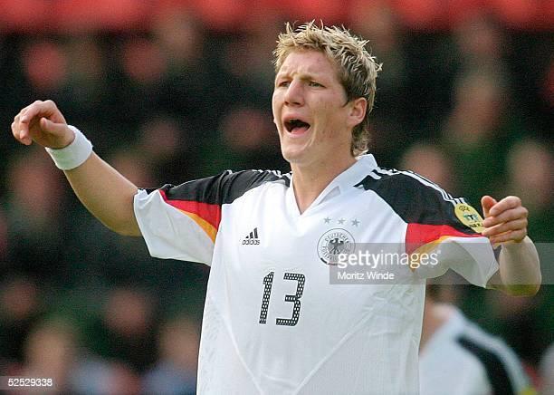 Fussball U 21 EM 2004 Mainz Deutschland Schweiz 21 Bastian SCHWEINSTEIGER / GER 280504