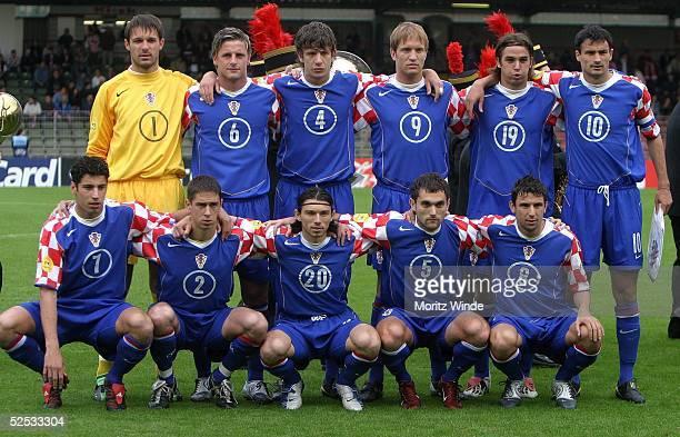 Fussball: U 21 EM 2004, Oberhausen; Kroatien - Serbien Montenegro ; Mannschaft Kroatien 27.05.04.