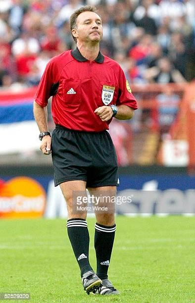 Fussball U 21 EM 2004 Oberhausen Kroatien Serbien Montenegro Schiedsrichter Luis Medina CANTALEJO 270504