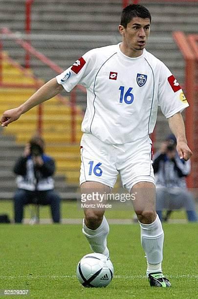 Fussball U 21 EM 2004 Oberhausen Kroatien Serbien Montenegro Milan BISEVAC / SerbienMontenegro 270504