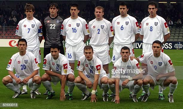 Fussball: U 21 EM 2004, Oberhausen; Kroatien - Serbien Montenegro ; Mannschaft Serbien Montenegro 27.05.04.