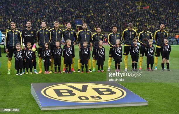 Fussball UEFA Champions League Saison 2016 2017 Viertelfinale Nachholspiel des am Vortages wegen des Terroranschlages auf den BVB Mannschaftsbus...