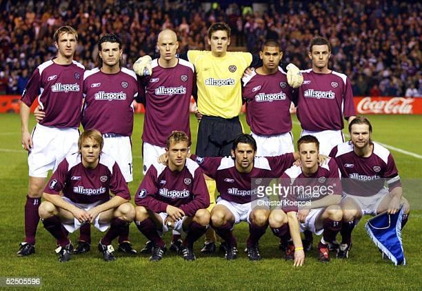Fussball UEFA Pokal 04/05 Edingburgh Heart of Midlothian FC Schalke 04 01 Teamfoto Hearts of Midlothian 041104