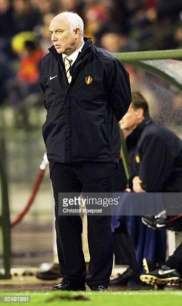 Fussball: WM Qualifikation 2004, Bruessel; Belgien - Serbien und Montenegro 0:2; Trainer Aime ANTHUENIS / BEL 17.11.04.