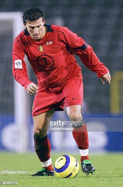 Fussball: WM Qualifikation 2004, Bruessel; Belgien - Serbien und Montenegro 0:2; Walter BASEGGIO / BEL 17.11.04.