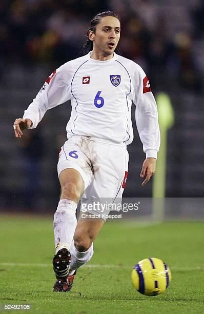 Fussball WM Qualifikation 2004 Bruessel Belgien Serbien und Montenegro 02 Goran GAVRANCIC / SCG 171104