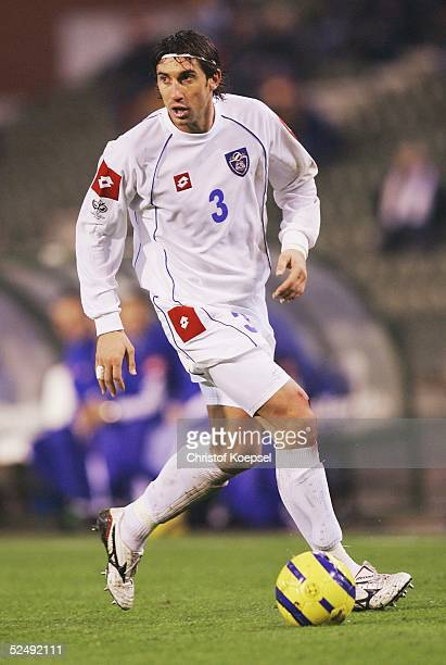 Fussball WM Qualifikation 2004 Bruessel Belgien Serbien und Montenegro 02 Ivica DRAGUTINOVIC / SCG 171104
