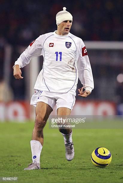 Fussball WM Qualifikation 2004 Bruessel Belgien Serbien und Montenegro 02 Predrag DJORDJEVIC / SCG 171104