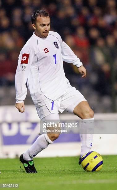Fussball WM Qualifikation 2004 Bruessel Belgien Serbien und Montenegro 02 Ognjen KOROMAN / SCG 171104