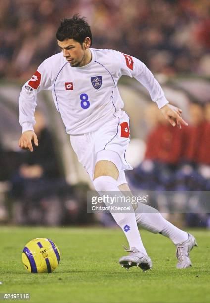 Fussball: WM Qualifikation 2004, Bruessel; Belgien - Serbien und Montenegro 0:2; Mateja KEZMAN / SCG 17.11.04.