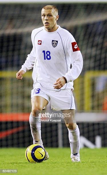 Fussball: WM Qualifikation 2004, Bruessel; Belgien - Serbien und Montenegro 0:2; Zvonimir VUKIC / SCG 17.11.04.
