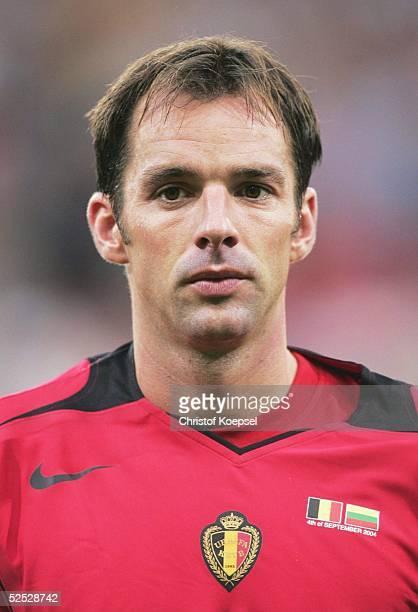 Fussball WM Qualifikation 2004 Charleroi Belgien Litauen 11 Bart GOOR / BEL 040904