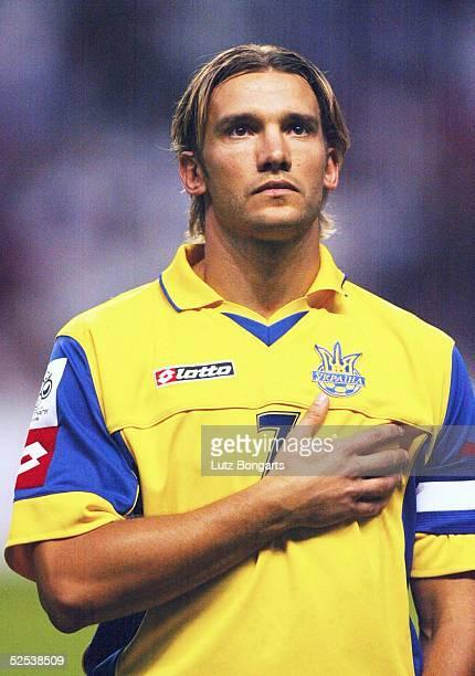 Fussball WM Qualifikation 2004 Kopenhagen Daenemark Ukraine Andrej SHEVCHENKO / UKR 040904
