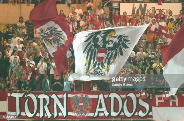 Fussball WM Qualifikation 2004 Wien Oesterreich England 22 Fans / AUT 040904