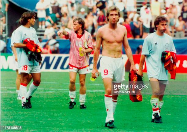 Fussball-WM Achtelfinal 1994: Schweiz - Spanien; Abzug der Schweizer