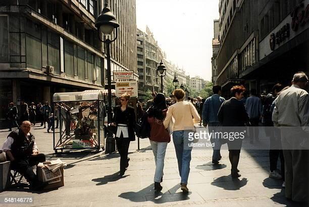 Fussgängerzone in der Innenstadt - Juni 1998