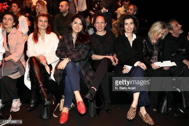 Fusun Kuran Gamze Saracoglu Simay Bulbul and Gul Agis attend the MercedesBenz Fashion Week Istanbul March 2019 at Zorlu Center on March 20 2019 in...