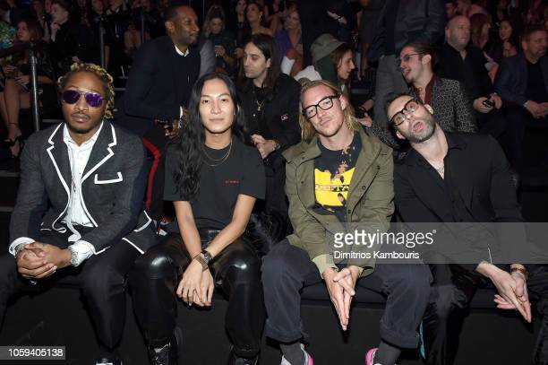 Future Alexander Wang Diplo and Adam Levine attend the 2018 Victoria's Secret Fashion Show in New York at Pier 94 on November 8 2018 in New York City