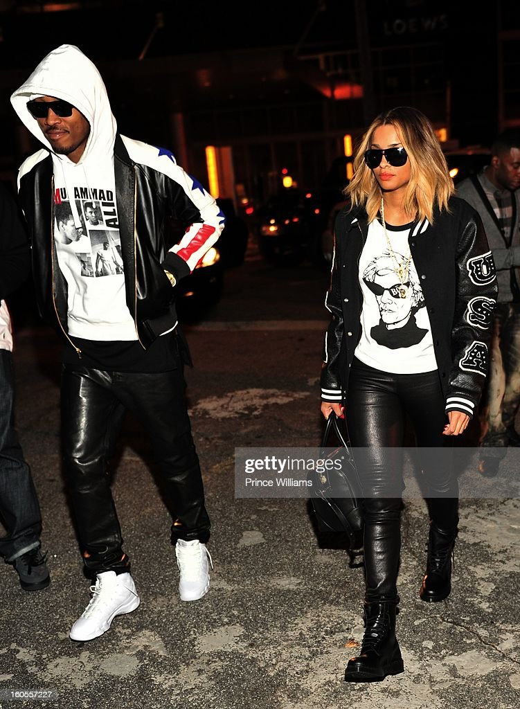 Future and Ciara attend the birthday celebration for Big Boi of Outkast at Club Reign on February 2, 2013 in Atlanta, Georgia.