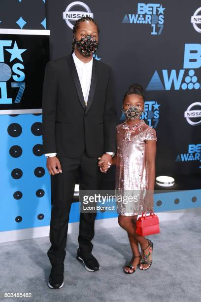 Future and Londyn Wilburn arrives at the 2017 BET Awards at Microsoft Theater on June 25 2017 in Los Angeles California