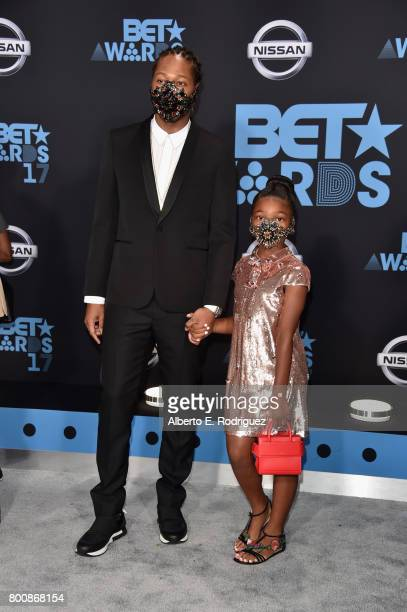 Future and Londyn Wilburn at the 2017 BET Awards at Microsoft Square on June 25 2017 in Los Angeles California