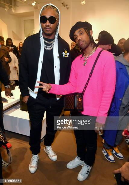Future and Reese Laflare attend Dior Summer Men's Collection Hosted by Future at Jeffrey AtlantaPhipps Plaza on January 31 2019 in Atlanta Georgia