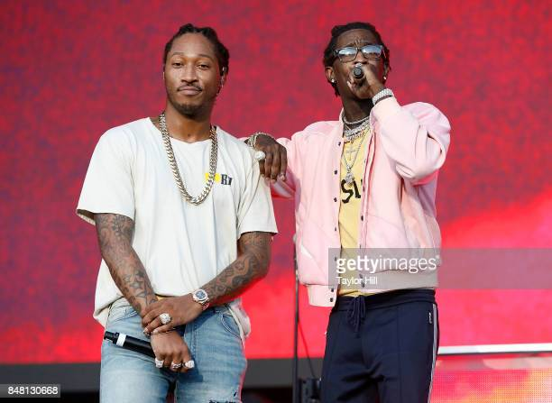 Future and Young Thug perform onstage during Day 2 at The Meadows Music Arts Festival at Citi Field on September 16 2017 in New York City