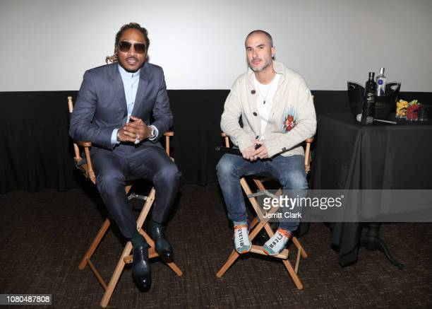 Future and Zane Lowe speak during a QA following the screening of Future Hndrxx Presents The Wizrd Documentary on January 08 2019 in Los Angeles...