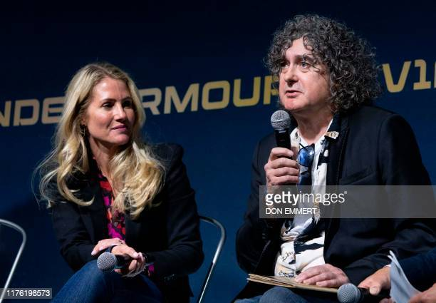 Future astronauts Jennifer Rallison of Canada and Trevor Beattie of the Britain appear at Virgin Galactic event October 16 2019 in Yonkers New York...