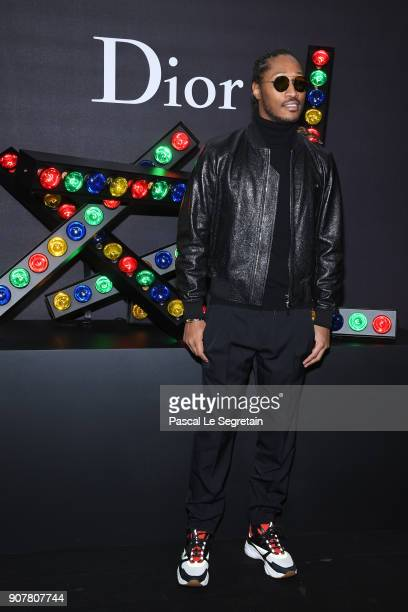 Future attends Dior Homme Menswear Fall/Winter 20182019 show as part of Paris Fashion Week at Grand Palais on January 20 2018 in Paris France