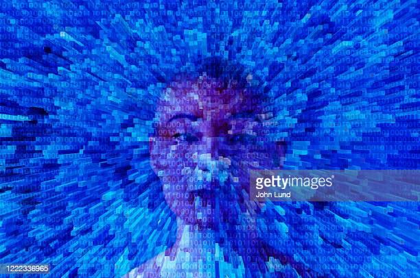 future big data woman - data stream - fotografias e filmes do acervo