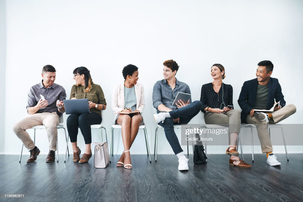 Future colleagues in the making : Stock Photo