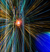 vivid zooming light trails show concepts
