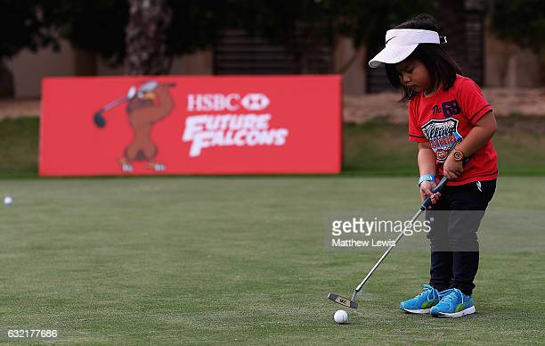 Future Falcons in action during day two of the Abu Dhabi HSBC Championship at Abu Dhabi Golf Club on January 20 2017 in Abu Dhabi United Arab Emirates