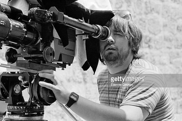 Future French director Luc Besson behind the camera as second equipment director on the set of the film 'Le Grand carnaval' directed by Alexandre...