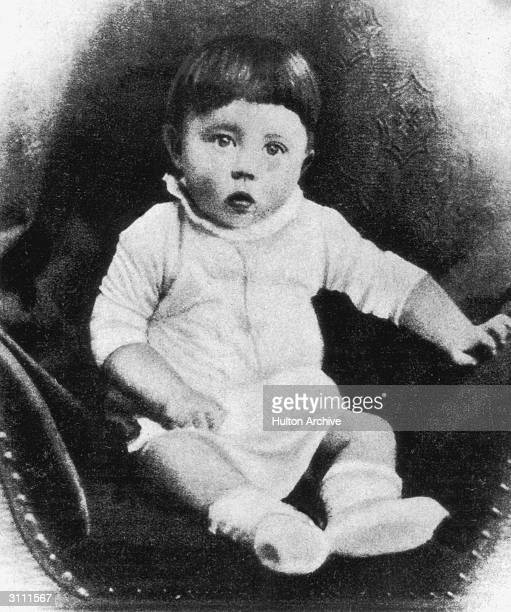 Future Fuhrer Adolf Hitler as a baby circa 1890