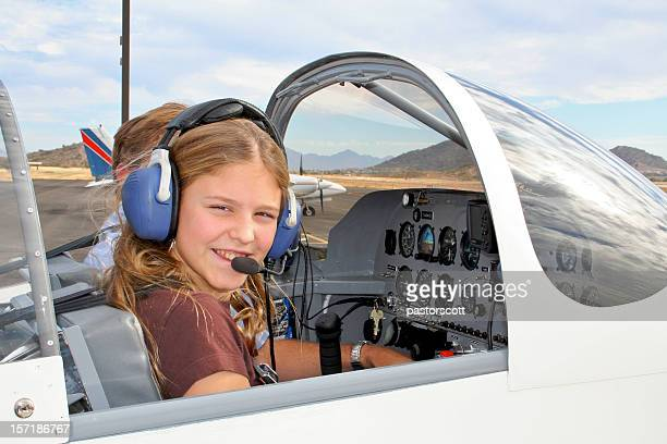 future girl pilot - piloting stock pictures, royalty-free photos & images