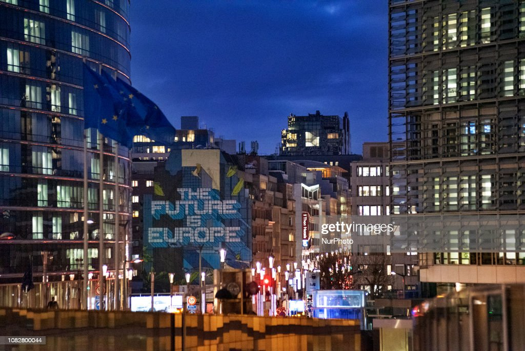 European Commission Headquarter In Brussels : News Photo