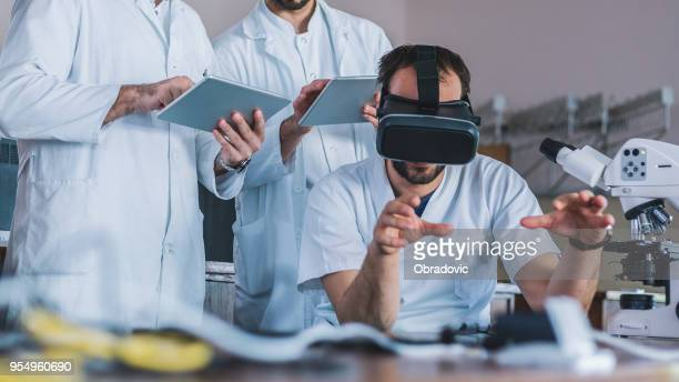 future is here - virtual reality simulator stock photos and pictures