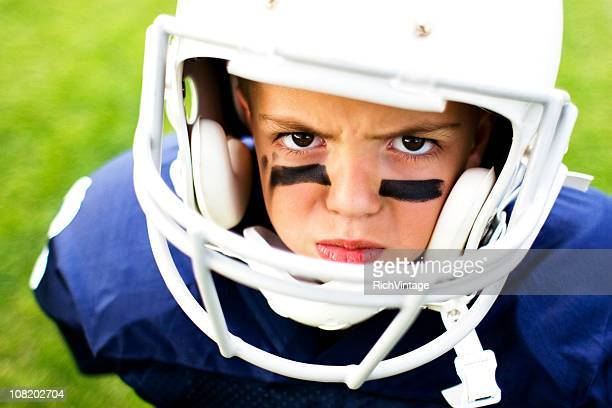 future linebacker - eye black stock photos and pictures