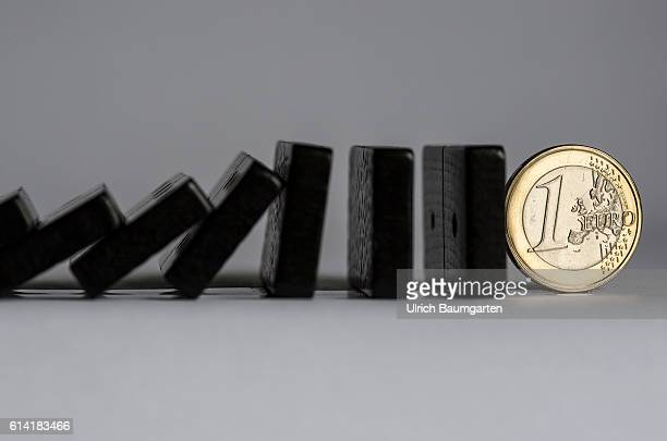 Future Of The Eu And Euro Symbol Photo With Dominoes Falling News Getty Images
