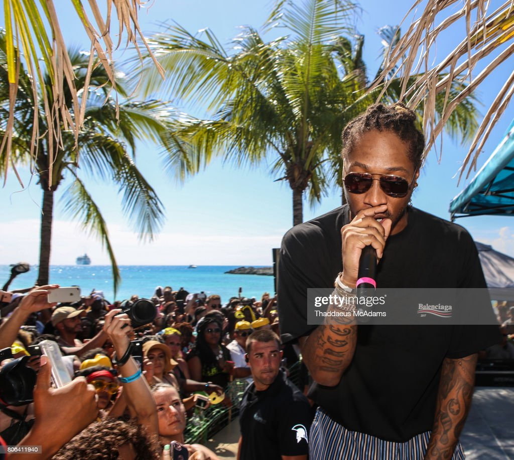 Future performs at Stirrup Cay Island as part of The Summer Fest Cruise on July 2, 2017 in At Sea, Bahamas.