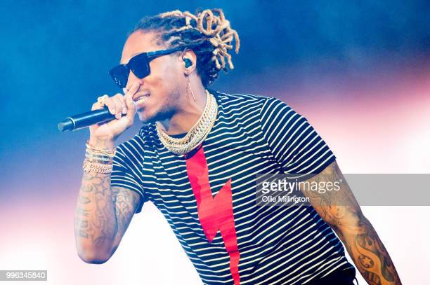 Future performs headlining the main stage at The Plains of Abraham in The Battlefields Park during day 3 of the 51st Festival d'ete de Quebec on July...