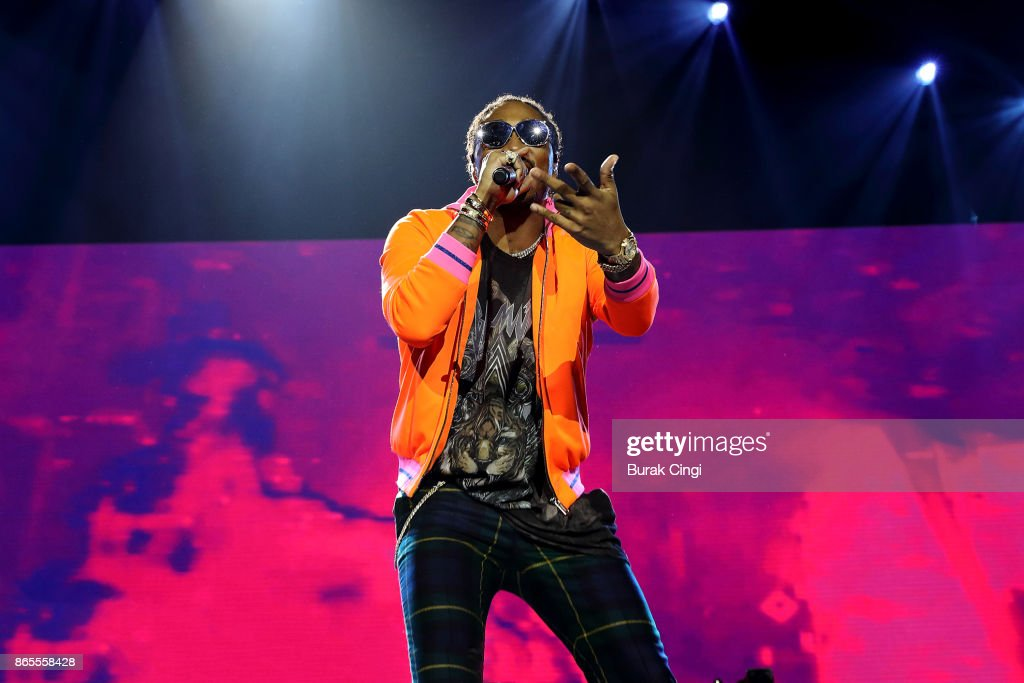 Future performs live on stage at The O2 Arena on October 23, 2017 in London, England.