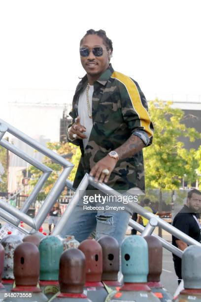 Future poses backstage during the Meadows Music and Arts Festival Day 2 at Citi Field on September 16 2017 in New York City