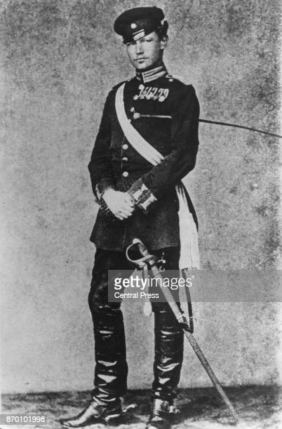 Future President of the German Reich Paul von Hindenburg whilst a Lieutenant of the Guards circa 1870