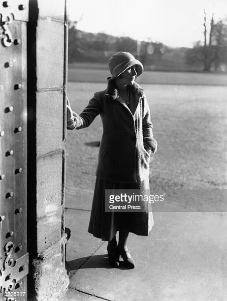 Future Queen Consort to King George VI Lady Elizabeth BowesLyon at her childhood home Glamis Castle in Angus