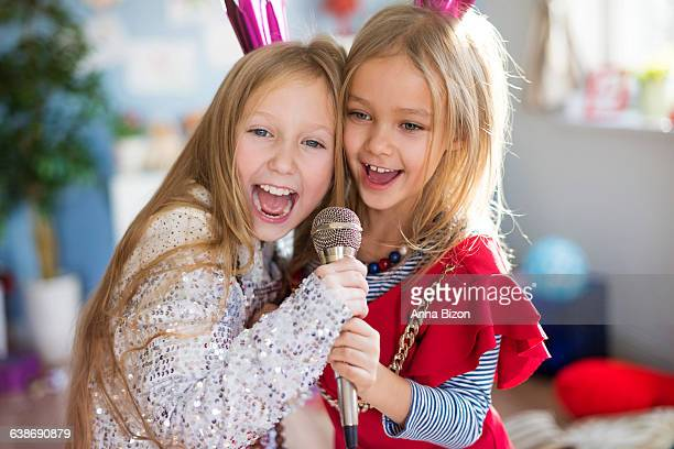 future stars singing together a favorite song. debica, poland - anna song imagens e fotografias de stock