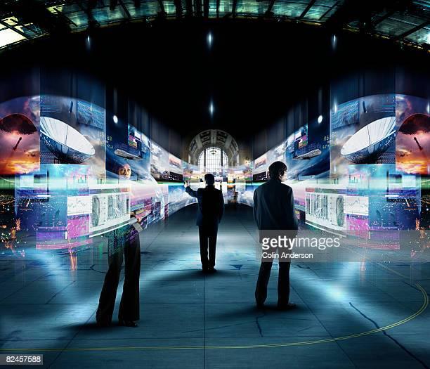 future trade show - interaktivität stock-fotos und bilder