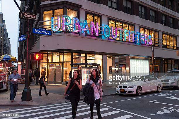 A future Urban Outfitters retail store already has its signage up in midtown in New York on Tuesday May 20 2014 Urban Outfitter reported lower sales...